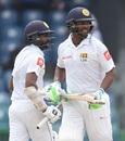 Niroshan Dickwella and Asela Gunaratne added 121 for the sixth wicket, Sri Lanka v Zimbabwe, only Test, 5th day, Colombo, July 18, 2017