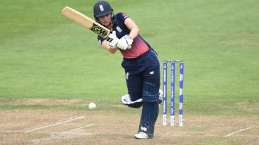 Sarah Taylor is superbly balanced as she flicks to midwicket