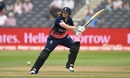 Anya Shrubsole plays the shot that put her team in the final, England v South Africa, Women's World Cup, Bristol, July 18, 2017