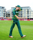 Dane van Niekerk leaves the field teary-eyed, England v South Africa, Women's World Cup, Bristol, July 18, 2017