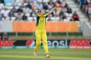Ellyse Perry goes up in appeal, Australia v India, Women's World Cup, semi-final, Derby, July 20, 2017