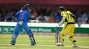 Mithali Raj was bowled by Kristen Beams for 36, Australia v India, Women's World Cup, semi-final, Derby, July 20, 2017