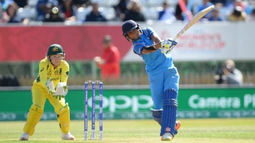 Harmanpreet Kaur clobbers one over the leg side