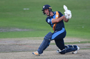 Wayne Madsen swings through the leg side, Worcestershire v Derbyshire, NatWest Blast, North Group, Worcester, July 19, 2017