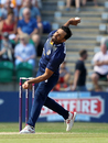 Ravi Bopara bowls against Kent, Kent v Essex, NatWest Blast, South Group, Beckenham, July 9, 2017
