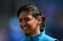 Harmanpreet Kaur enjoys a light moment at training, England v India, Women's World Cup, Final, London, July 23, 2017