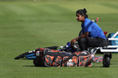 Mithali Raj spends some time by herself ahead of a nets session at Lord's, England v India, Women's World Cup, Final, London, July 23, 2017