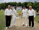 Himanshu Rana and Max Holden shake hands at the toss, England Under-19s v India Under-19s, 1st Youth Test, Chesterfield, July 23, 2017