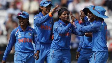 Rajeshwari Gayakwad claimed the first wicket to fall