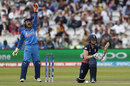 Heather Knight was lbw on review after missing a sweep, England v India, Women's World Cup final 2017, Lord's, July 23, 2017