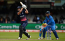 Nat Sciver steps out to hit down the ground, England v India, Women's World Cup final 2017, Lord's, July 23, 2017