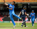 Jhulan Goswami exults after pinning Natalie Sciver plumb in front, England v India, Women's World Cup final 2017, Lord's, July 23, 2017