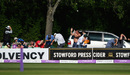 Ross Whiteley sends spectators ducking for cover as they lose to Surrey at New Road, Worcestershire v Surrey, Royal London Cup semi-final, New Road, June 17, 2017
