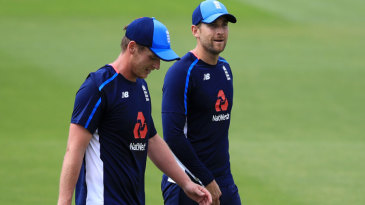 Tom Westley and Dawid Malan take part in training after their maiden Test call-ups