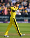 David Payne celebrates a wicket, Gloucestershire v Glamorgan, NatWest T20 Blast, South Group, July 25, 2017