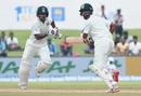 Shikhar Dhawan and Cheteshwar Pujara set off for a run, Sri Lanka v India, 1st Test, Galle, 1st day, July 26, 2017