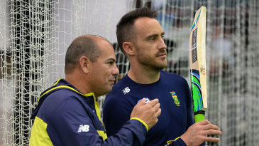Faf du Plessis with Russell Domingo