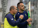 Faf du Plessis with coach Russell Domingo, England v South Africa, 3rd Investec Test, The Oval, July 26, 2017