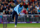 Adil Rashid bowls for Yorkshire, Lancashire v Yorkshire, NatWest Blast, North Group, Old TYrafford, July 14, 2017