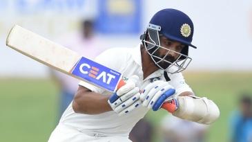 Ajinkya Rahane takes evasive action against a short ball