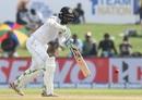 Upul Tharanga drives on the up, Sri Lanka v India, 1st Test, Galle, 2nd day, July 27, 2017