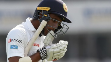 Kusal Mendis fell for a duck for the first time at home