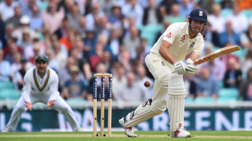 Alastair Cook bedded in after the loss of his partner