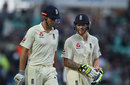 Alastair Cook and Ben Stokes head off as the rain falls, England v South Africa, 3rd Investec Test, The Oval, 1st day, July 27, 2017