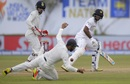 The ball skips past Ajinkya Rahane at first slip, Sri Lanka v India, 1st Test, Galle, 3rd day, July 28, 2017