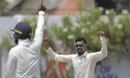 Ravindra Jadeja threatened with turn from the undisturbed part of the pitch, Sri Lanka v India, 1st Test, Galle, 3rd day, July 28, 2017