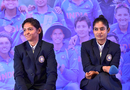 Harmanpreet Kaur and Mithali Raj at a felicitation ceremony in New Delhi, July 27, 2017