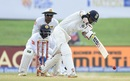 Abhinav Mukund hits down the ground, Sri Lanka v India, 1st Test, Galle, 3rd day, July 28, 2017