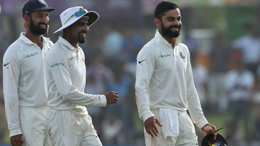Virat Kohli is all smiles as India go 1-0 up