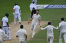 Toby Roland-Jones was on a hat-trick when he removed Vernon Philander first ball, England v South Africa, 3rd Investec Test, The Oval, 5th day, July 31, 2017