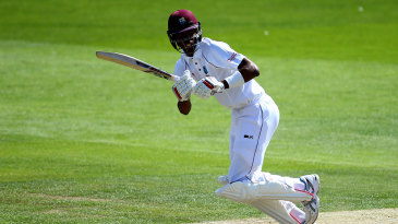 Roston Chase works through the leg side