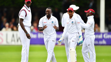 Kemar Roach produced a three-wicket burst with the new ball