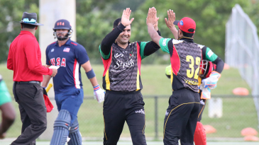 Mohammad Nabi dismissed Abdullah Syed for 68 to spark a USA collapse
