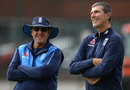 England men's coach Trevor Bayliss and his women's counterpart Mark Robinson, Old Trafford, August 2, 2017
