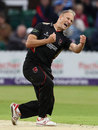 Dieter Klein celebrates a wicket, Leicestershire v Nottinghamshire, NatWest T20 Blast, North Group, Grace Road, August 2, 2017