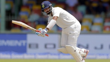Cheteshwar Pujara turns the ball to the leg side