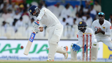 Ajinkya Rahane lifts one over midwicket