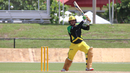 Jonathan Foo drives over cover for one of his four fours, USA v Jamaica Tallawahs, CPL 2017 warm-up, Lauderhill, August 3, 2017