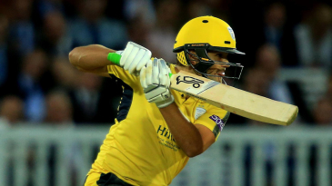 Rilee Rossouw shook off a blow on the helmet to lead Hampshire home