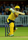 Rilee Rossouw shook off a blow on the helmet to lead Hampshire home, Middlesex v Hampshire, NatWest Blast, South Group, August 3, 2017