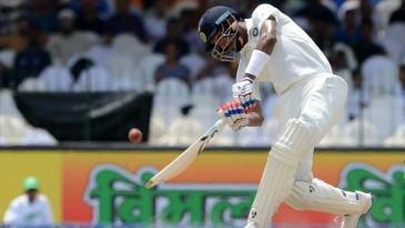 Hardik Pandya mis-timed a heave to long-off