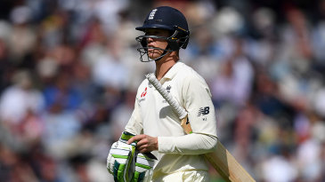 Keaton Jennings trudges off as his difficulties continue