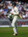 Keaton Jennings trudges off as his difficulties continue, England v South Africa, 4th Investec Test, Old Trafford, 1st day, August 4, 2017