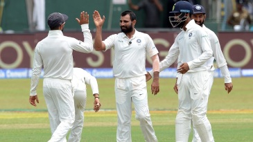 Mohammed Shami struck twice in an over