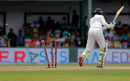 A full-length nip-backer from Umesh Yadav threw Upul Tharanga's stumps into disarray, Sri Lanka v India, 2nd Test, SSC, 3rd day, Colombo, August 5, 2017