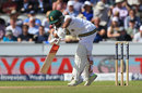 Temba Bavuma took a few blows, England v South Africa, 4th Investec Test, Old Trafford, 2nd day, August 5, 2017